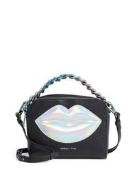 Kendall + Kylie - Black Lucy Lips Crossbody Bag - Lyst