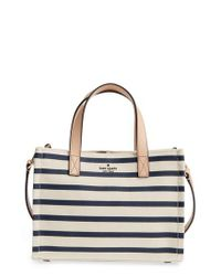 Kate Spade - Blue Washington Square - Sam Canvas Handbag - Lyst