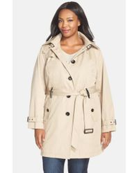 MICHAEL Michael Kors | Natural Single Breasted Raincoat | Lyst