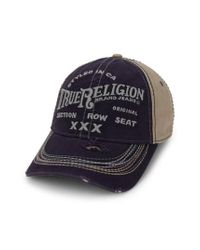 True Religion | Blue 'triple X' Baseball Cap for Men | Lyst