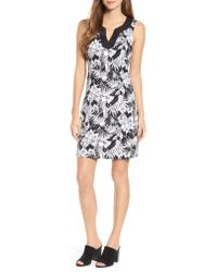 Tommy Bahama - Black Palm Noir Sleeveless Tunic Dress - Lyst