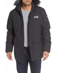Helly Hansen | Black Svalbard Waterproof Parka With Faux Fur Trim for Men | Lyst