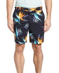 Original Penguin - Blue Tropical Floral Shorts for Men - Lyst