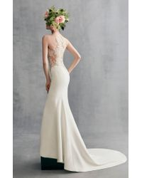 Ines by Ines Di Santo - Multicolor Kalina Illusion Lace & Crepe Gown - Lyst