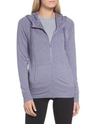 Zella - Purple Well Played Zip Fleece Hoodie - Lyst