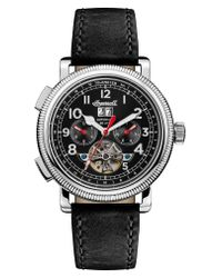 INGERSOLL WATCHES - Metallic Ingersoll Bloch Open Heart Automatic Multifunction Leather Strap Watch for Men - Lyst