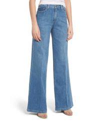 PAIGE Blue Sutton Super Wide Leg Jeans
