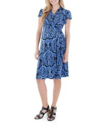 Everly Grey - Black 'Kathy' Maternity/Nursing Wrap Dress - Lyst