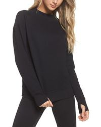 Zella | Black Textured Sweatshirt | Lyst