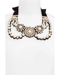 Kate Spade - Multicolor Luminous Imitation Pearl Bib Necklace - Lyst