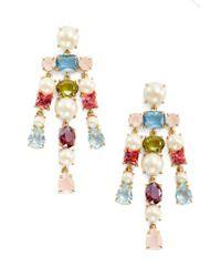 Kate Spade | Metallic A New Hue Crystal Drop Earrings | Lyst