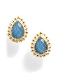 Anna Beck | Blue Quartz Teardrop Stud Earrings | Lyst