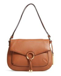 Vince Camuto | Brown Adina Leather Shoulder/crossbody Bag | Lyst