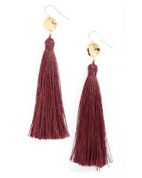Gorjana - Red Leucadia Tassel Drop Earrings - Lyst