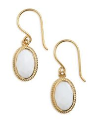 Anna Beck | Metallic White Opal Drop Earrings | Lyst