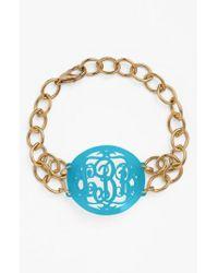 Moon & Lola - Metallic 'annabel' Medium Oval Personalized Monogram Bracelet (nordstrom Exclusive) - Lyst