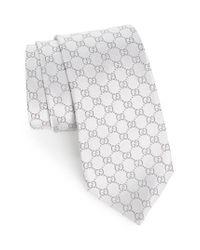 Gucci | Gray Federa Silk Jacquard Tie for Men | Lyst