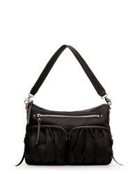 MZ Wallace - Black 'hayley' Bedford Nylon Handbag - Lyst