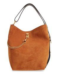 Givenchy - Brown Medium Gv Lambskin Bucket Bag - Lyst