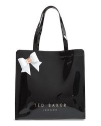 Ted Baker - Black Auracon Bow Icon Tote - Lyst