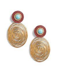 Gas Bijoux - Green Wave Drop Earrings - Lyst