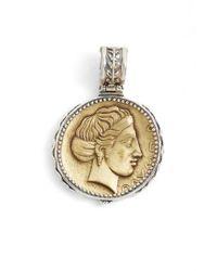 Konstantino - Metallic 'kerma' Coin Pendant - Lyst