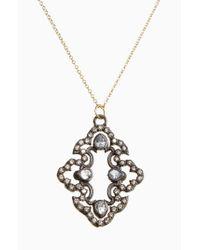 Armenta - Black Old World Diamond Scroll Pendant Necklace - Lyst