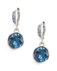 Givenchy | Blue Round Drop Earrings | Lyst