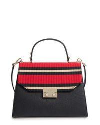 Kate Spade - Red Stewart Street - Samira Textile & Leather Top Handle Satchel - Lyst