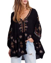 Free People - Black Arianna Tunic - Lyst