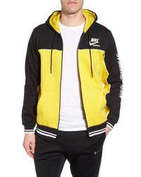 Nike Yellow Nsw Archive Zip Hoodie for men