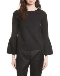 Ted Baker | Black Lolare Bell Sleeve Top | Lyst