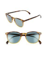 df167ec3302 Lyst - Oliver Peoples Finley Esq. 51mm Sunglasses - Vbtg in Blue for Men