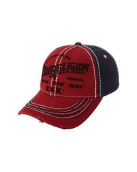 True Religion | Red 'triple X' Baseball Cap for Men | Lyst