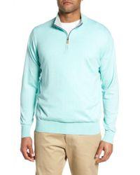 Peter Millar - Blue Crown Soft Quarter-zip Pullover for Men - Lyst