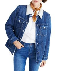 Madewell - Blue Oversize Jean Jacket - Lyst