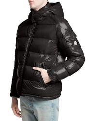 Moncler | Black Maya Lacquered Down Jacket for Men | Lyst