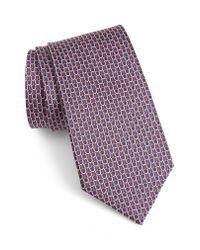 Ermenegildo Zegna - Multicolor Geometric Silk Tie for Men - Lyst
