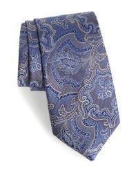 Calibrate | Blue Ellerson Paisley Silk Tie for Men | Lyst