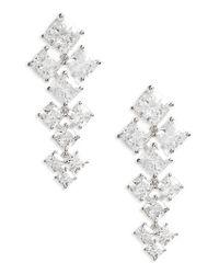 Nadri - Metallic Vera Crystal Drop Earrings - Lyst