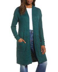 Caslon - Multicolor Caslon Mixed Stitch Long Cardigan - Lyst