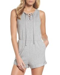 BB Dakota - Gray Zuelia French Terry Lounge Romper - Lyst