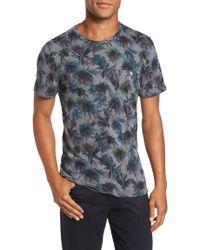 Ted Baker - Gray Katatak Thistle Print T-shirt for Men - Lyst