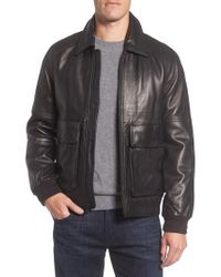 Marc New York - Black Andrew Marc Lambskin Leather Aviator Jacket for Men - Lyst