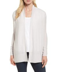 Nordstrom Gray Cashmere Blend Boucle Cardigan