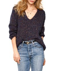 Heartloom Blue Ace Marled Sweater