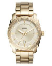 Fossil - Metallic Machine Bracelet Watch for Men - Lyst