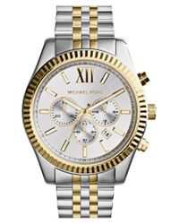 Michael Kors - Metallic Large Lexington Chronograph Bracelet Watch - Lyst
