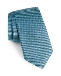Calibrate | Blue Amsberry Microcheck Silk Tie for Men | Lyst