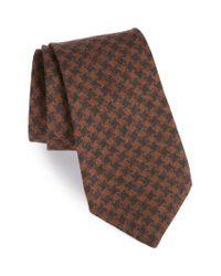 Michael Bastian | Brown Houndstooth Wool Tie for Men | Lyst